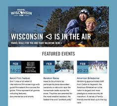 Travel Wisconsin Email Example