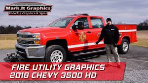 100 Fire Truck Graphics Utility 2018 Chevy 3500 HD 911RR YouTube