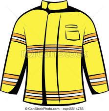 Firefighter jacket icon icon cartoon Firefighter jacket