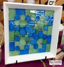 ben franklin crafts and frame shop how to make a sea glass tile tray