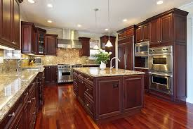 Kitchens With Dark Cabinets And Wood Floors by 23 Cherry Wood Kitchens Cabinet Designs U0026 Ideas Designing Idea