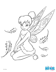 Tinkerbell Coloring Page Tinker Bell Pages Hellokids Disney