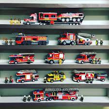 100 Custom Lego Fire Truck The Fire Truck Shelf Continues To Grow Lego Legos Legocity