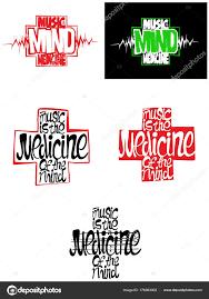 Music Medicine Mind Sign Symbol Vector Shirt Stock