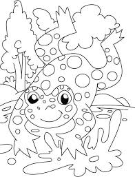 Frog Count The Spot Coloring Pages