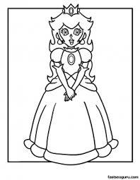Printable Princess Peach Coloring Page