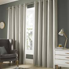 Blackout Curtain Liner Eyelet by Ashley Wilde Monaco Pebble Blackout Woven Eyelet Curtains Dove Mill