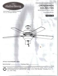Harbor Breeze Ceiling Fan Light Not Working by Harbor Breeze Crosswinds Ceiling Fan Instruction Installation