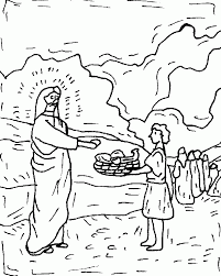 Jesus Feeds 5000 Coloring Page AZ Pages