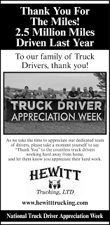 National Truck Driver Appreciation Week   Ad Vault ... Truckdrivingjobs Competitors Revenue And Employees Owler Company Truck Drivers Wanted Wds Wm D Scepaniak Inc Cdla Team 200 Milesmo With Transsystem 16 Bold Infographic Designs Design Project For Tangent Regional Driver Customize Your Home Time Keller Trucking Drive4totalcom Total Teams Earn 61 Per Mile Driver Missing Several Days Walked Miles Rescued By Drivejbhuntcom Ipdent Contractor Job Search At Expense Sheet Lovely Spreadsheet How Much Money Do Make Earning Potential Tdi Tax Deduction Worksheet For New 36 Beautiful