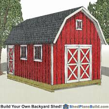 Free 12x16 Gambrel Shed Material List by 12x20 Gambrel Shed Plans Small Barn Shed