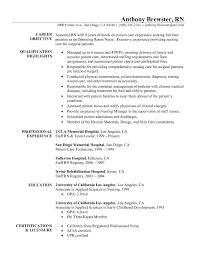 Sample Resume For Nurses Newly Graduated Unique Fascinating Nursing Samples New Graduates Rn