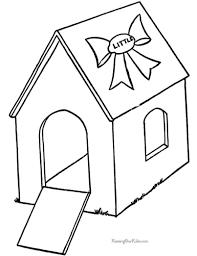 Printable Dog House Coloring Page