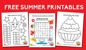 Free Summer Printables For Kids Starman Craft Crossword Ice Cream Coloring Sheet