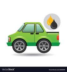100 Gasoline Truck Green Pickup Truck Oil Gasoline Royalty Free Vector Image