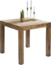 wohnling esstisch mumbai massivholz sheesham 80 x 80 x 76 cm esszimmer tisch design küchentisch modern landhaus stil holztisch quadratisch