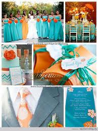 Nigerian Wedding Aquamarine And Orange Color Scheme 1