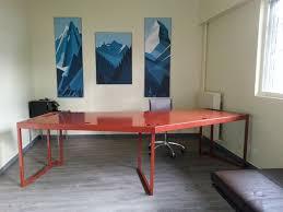 bureau 2 personnes fenel arno steel et design bureau sur mesure pour 2 personnes
