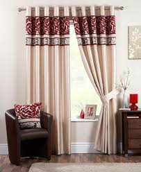 Amazon Uk Living Room Curtains by Coniston Eyelet Lined Curtains Red Free Uk Delivery Terrys Fabrics
