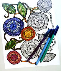 Download The Free Printable Complex Coloring Pages In A Flower Theme Here