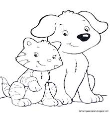 Coloring Pictures Of Cats And Dogs Free Pages On Gallery Ideas For Adults Book