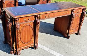 Maitland Smith Secretary Desk by Maitland Smith Lion Head Kneehole Desk Omero Home