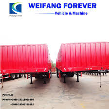 100 Semi Truck Trailers 3axle Flatbed Cargo With Side Wall For