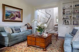 Colonial Style Living Room Private Residence In British Traditional On