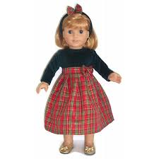 Handmade Clothes Dress For 18 Inch American Girl Dolls Party Blue