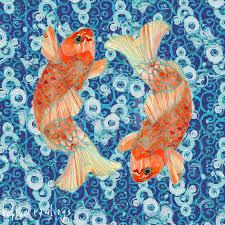 100 Robbin Rawlings Koi Fish Water Nautical Art Print By Artcom