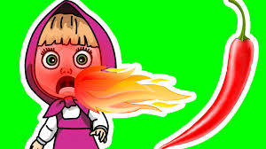 Caillou Scares Rosie In The Bathtub by Baby Toon Masha And The Bear Eating Chili Burn Cry Milk