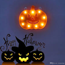 Fiber Optic Halloween Decorations by Plastic Pumpkin Marquee Sign Led Night Lights For Halloween
