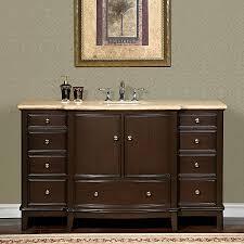 60 Inch Bathroom Vanity Single Sink Canada by Shop Silkroad Exclusive Clarice Dark Walnut Undermount Single Sink