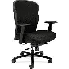 HON Wave Mesh Big And Tall Chair - Fabric Black Seat - 5-star Base - 21.63