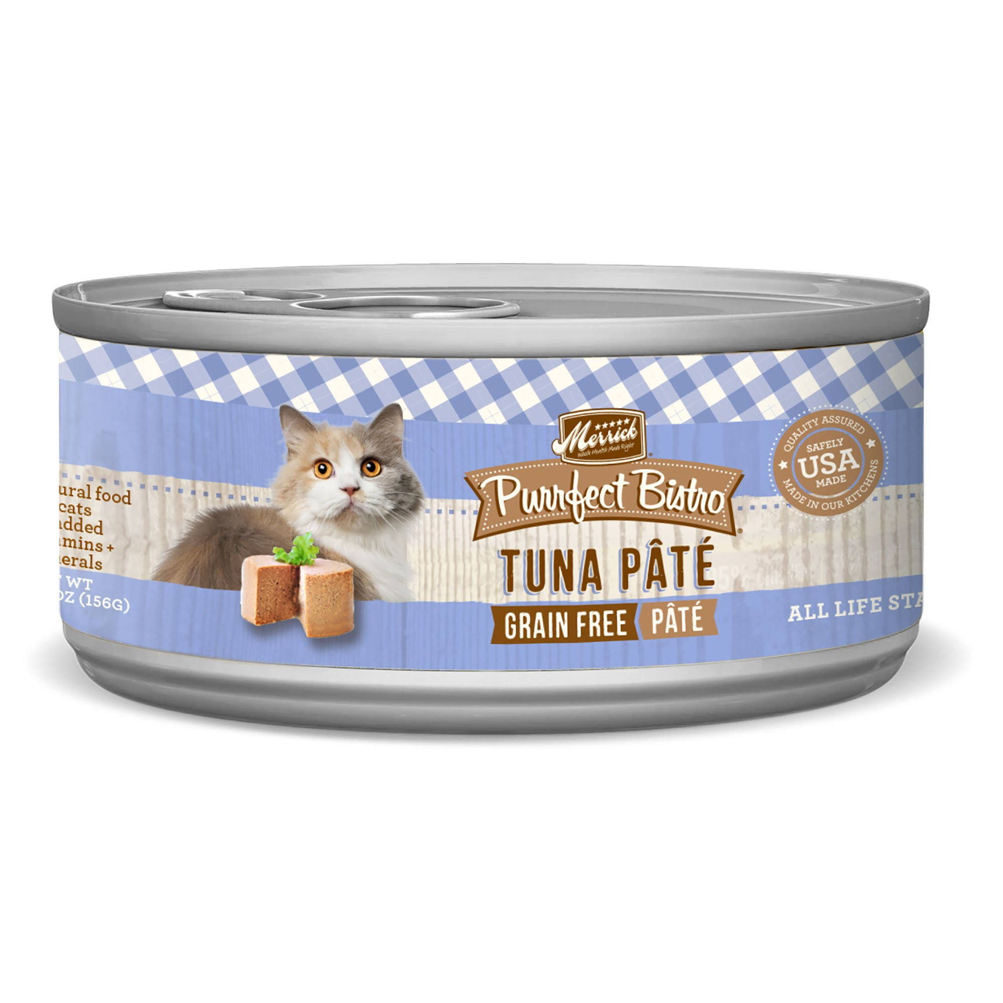 Merrick Purrfect Bistro Cat Food - Tuna Pate, 156g