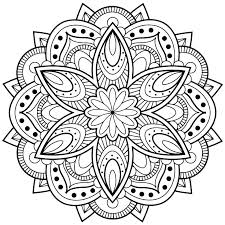 Download Free Coloring Pages For Adults Mandala Peaceful Ideas Flower