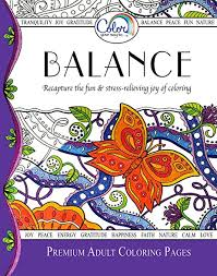 Adult Coloring Book Color Your Way To BALANCE Premium Pages For Watercolor