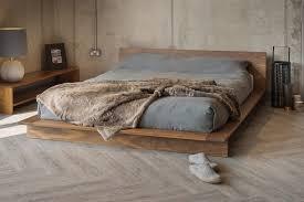 bedroom beds on the floor Oregon Low Platform Bed Solid Wood