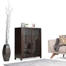 Walmart 2 Drawer Wood File Cabinet by Simpli Home Cosmopolitan Dark Brown Storage Cabinet Int Axccos Med