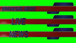 Breaking News Live Lower Third On A Green Screen Background