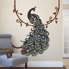 amazon com peacock wall decal peafowl wall sticker animal wall