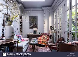 georgianischen stil wohnzimmer mit rustikalen eiche sitzbank