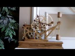 Free Scroll Saw Wooden Gear Clock Plans by Wood Gear Clock 5 By Steve K Youtube Video U0027s Pinterest