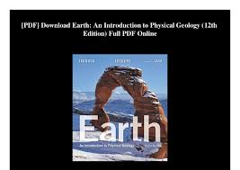 PDF Download Earth An Introduction To Physical Geology 12th Edition Full