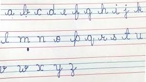 Cursive Writing For Beginners Writing Small Cursive Letters