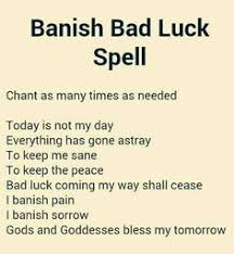 Banish Bad Luck Its Worth A Try