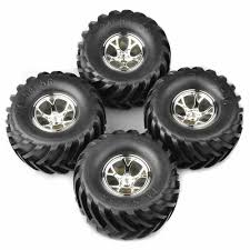 100 Rc Truck Wheels 110 Monster Tires Set For Ecx Ruckus 4wd And 2wd