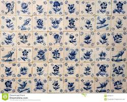 historical portuguese blue and white azulejo tiles portugal
