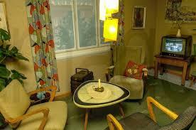 stockfoto wohnung im stil der 50er jahre wohnzimmer