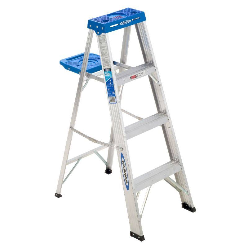 Werner 364 Duty Rating Aluminum Stepladder - 4', 250lb